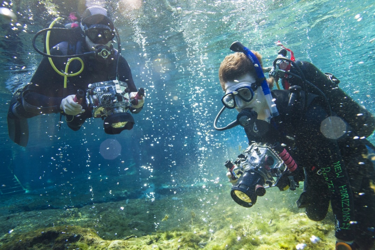 Asbury offers an optional underwater cinematography class for film students.