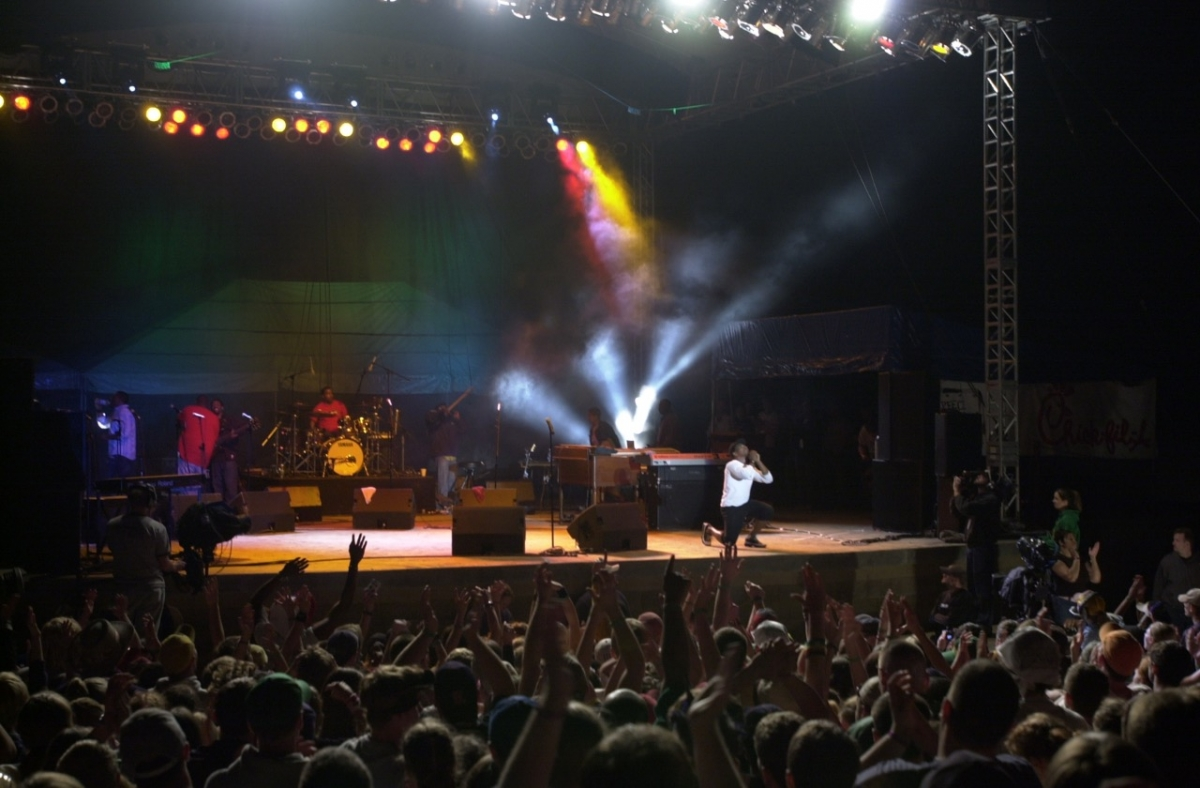 Students have the opportunity to work with and manage local bands and concerts.