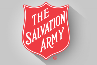 Salvation Army logo with shadow.