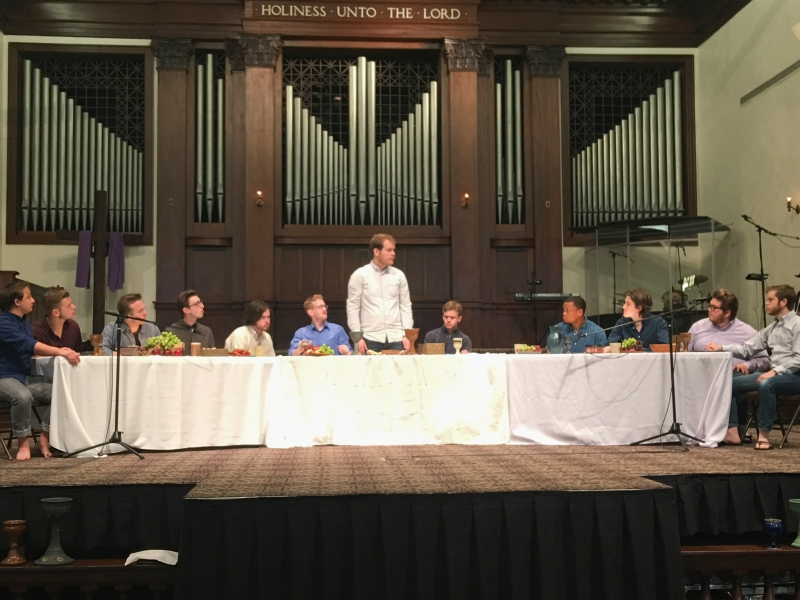 Asbury University's Worship Arts program presented a dramatic retelling of the Last Supper during Chapel on Wednesday.