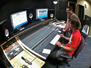 Inside the recording studio