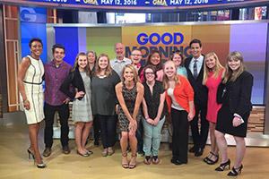 A group of students on the set of Good Morning America