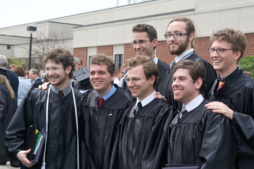 More than 300 students received bachelor's degrees from Asbury College on May 9, 2009.