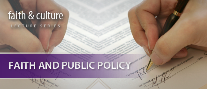 Faith and Public Policy Banner