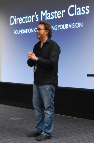 Film director Christopher Bessette spoke about developing a film's foundation.