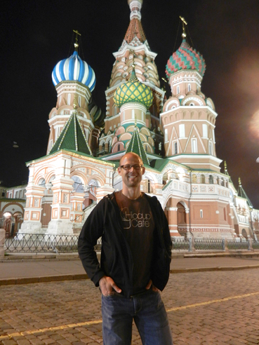 Dr. David Cecil took a little bit of Asbury's campus to St. Basil's cathedral in Moscow with a Hiccup Cafe t-shirt.