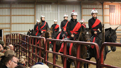Horses and riders from Asbury's Police Mount training program participated as Roman soldiers in the Christmas in the Country program.