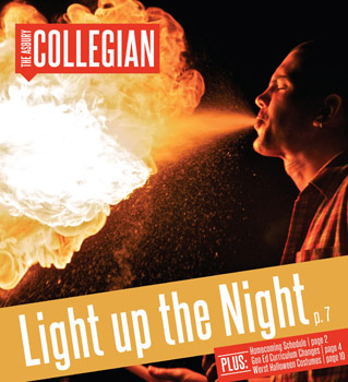 The Collegian switched to a more magazine-like format before the Fall 2011 semester.