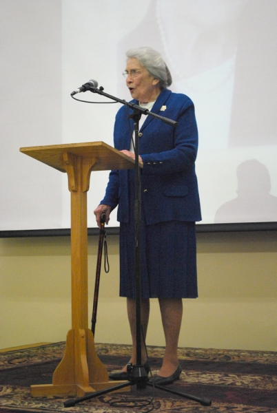 Dr. Phyllis Davidson '46 Corbitt was honored at a retirement reception at Asbury.