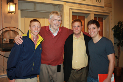 Michael Tetterton, CEO of Creative Lodging Solutions, invited Asbury students to a presentation by businessman and philanthropist Jack DeBoer. From left, Taylor Tetterton, Jack DeBoer, Michael Tetterton, Chris Tetterton