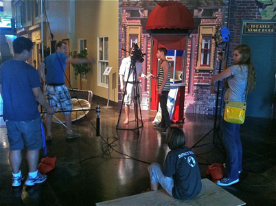 High-school students shot their own short films during Asbury's Film Camp.