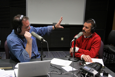 Radio host Dr. Matt Friedeman talks with Dr. Mark Troyer, vice president for student development and dean of students.