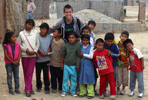 Senior Caleb Griffin spent a portion of his summer in Peru, helping with local church ministry.