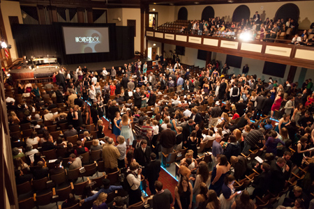 The film festival is held in Asbury's historic Hughes Auditorium.