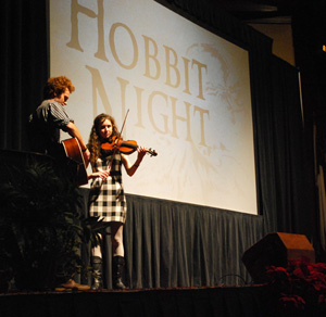 Asbury students offered live entertainment before the presentations.