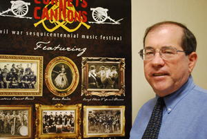 Dr. Ron Holz will emcee an American Civil War Sesquicentennial Music Festival in Frankfort.