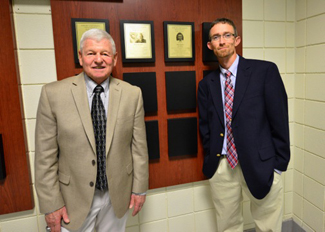Jack Hazen '62 and Tim Glenn '95 were inducted into the athletics Hall of Fame.
