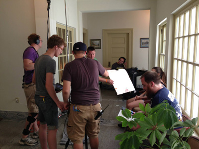 "Asbury students are working in the cast and crew for ""Hope Bridge,"" an independent film shot in central Kentucky."