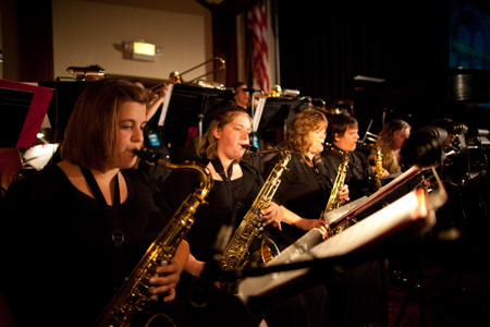 The Asbury University Jazz Band provided music before the show. Photo by Zach Wilson '11.