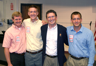 Patrick LaMar '14 (far left) interned at the office of U.S. Representative Thomas Massie (second from right) over the summer.