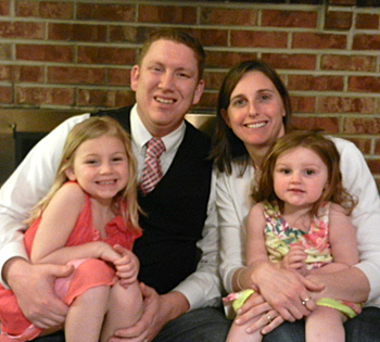 Andrea LaMotte '00 lives with her husband, Steve '01, and daughters Abbie and Chloe in Delaware.