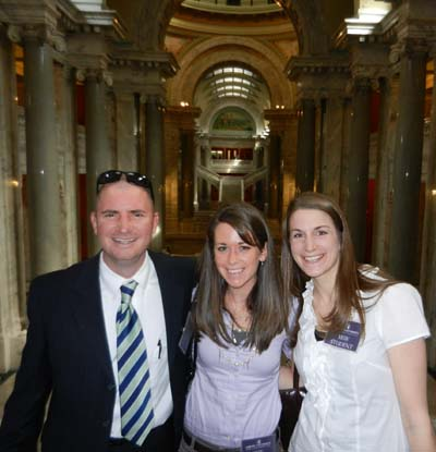 Asbury MSW students Eric Cummings, Lindsay Marler and Courtney Patty joined dozens of classmates at the National Association of Social Workers Lobby Day in Frankfort, Ky., this month.