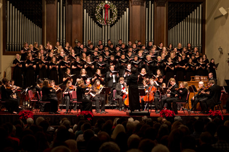 The Men's Glee Club, Chorale and Women's Choir joined the Asbury Orchestra in performing Messiah.