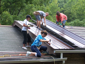 Many Asbury students participate in service projects to express their mission to the community.