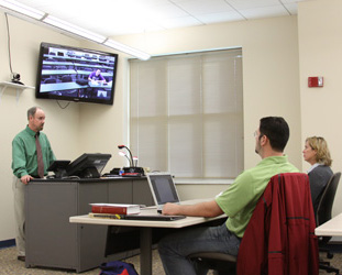 Distance learning classes enable Asbury students to connect in a variety of locations.
