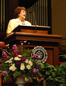 Mary John Shepherd '72 Dye spoke Sunday morning at Reunion 2012.