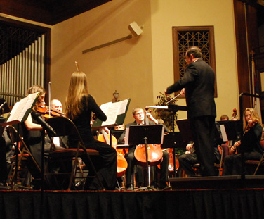 The Asbury University Concert Band, Collegium Musicum Piano Trio and Orchestra performed during the Winter Festival of Music.