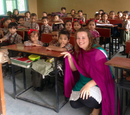 Senior Madeline Sites taught both children and adults in India over the summer.