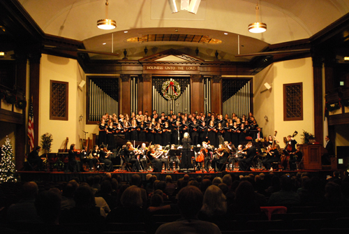 Songs of the Season featured Asbury's Women's Choir, Choral, Men's Glee Club and Orchestra, as well as English faculty.