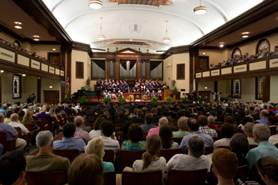 Baccalaureate services took place in Hughes Auditorium.