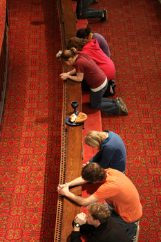 Prayer events at Asbury complement individual class and small-group gatherings.