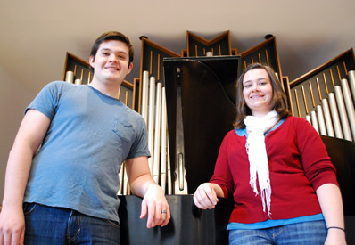 Mario Manrique '12 and Sarah Finehout '12 are two of only four composers selected by the Lexington Philharmonic Orchestra's New Music Experiment.