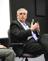Kentucky Commissioner of Education Terry Holliday spoke during a panel discussion at Asbury University.