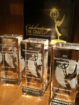 Three Asbury student productions won awards at the Ohio Valley Regional Emmy® Awards.