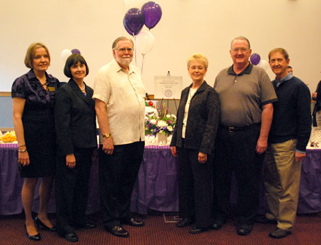 (From left) Dr. Shirley Pauler, Dr. Bea Holz, Dr. Paul Vincent, Dr. Becky Oswald, Dr. Del Searls and Dr. Ike Adams