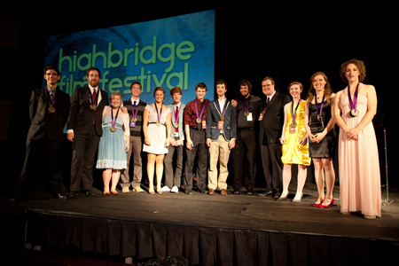The Highbridge Film Festival award winners. Photo by Zach Wilson '11.