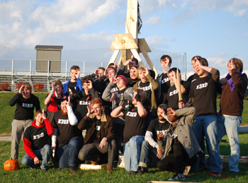 "The annual trebuchet launch is hosted by Asbury's ""Third Nerd"" hall."