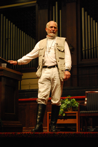 "Douglas Gresham, producer of the ""Narnia"" films and stepson of C.S. Lewis, spoke in Chapel at Asbury University."