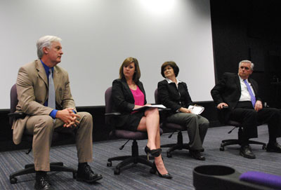 Panelists, from left, included Jeff Hawkins, Robin Lowe, Linda France and Dr. Terry Holliday.