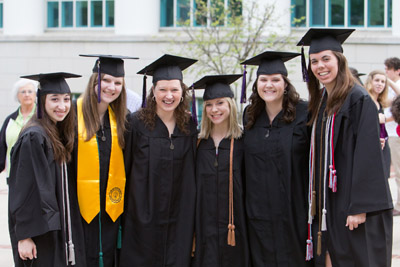 Asbury's May 2013 graduation included graduate students as well as traditional undergraduates.