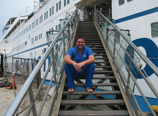 James Torrell '11 spent two months volunteering on the Africa Mercy.