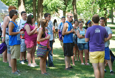 Hundreds of festival attendees toured Asbury's campus throughout the weekend.