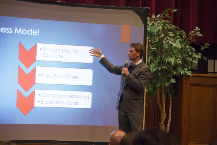 person giving a presentation