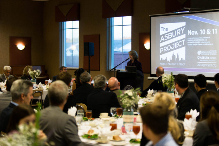 Dr. Gray speaking at a banquet