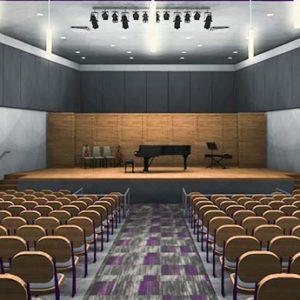Rendering of Jameson Recital Hall