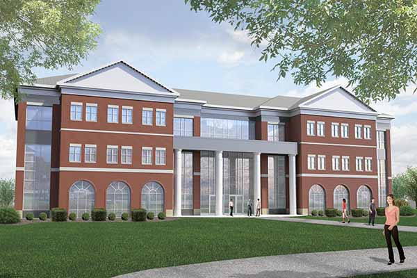 Outside rendering of the Collaborative Learning Center